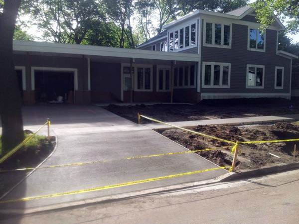 replace gravel driveway with concrete